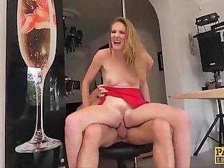 PASCALSSUBSLUTS - Lady Ashley Lane dominated in the kitchen xxxbucker blonde