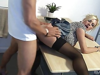 Black Stockings & Heels, MICHELLE THORNE Gets Hard Fucking xxxbucker blonde