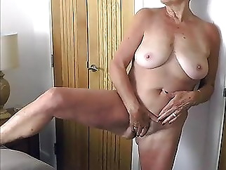 Hot mature Anita standing masturbation for xhamster xxxbucker amateur