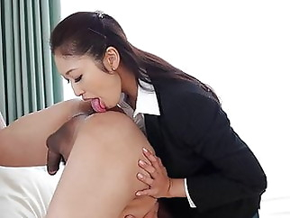 Japanese secretary, Reiko Kobayakawa came, uncensored xxxbucker asian