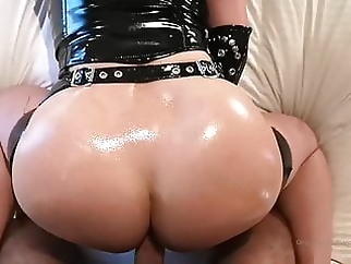 Redhead with big tits in latex gives blowjob & gets fucked xxxbucker anal