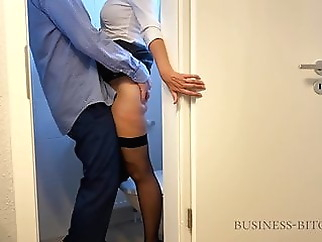 boss meets secretary in the office restroom - business-bitch xxxbucker amateur